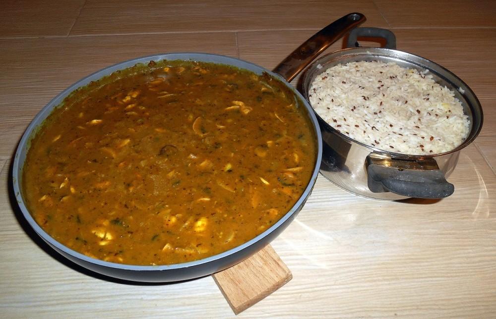 žampionový guláš / veganské recepty