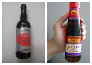 Finální dochucení: sojovka a sezamový olej
