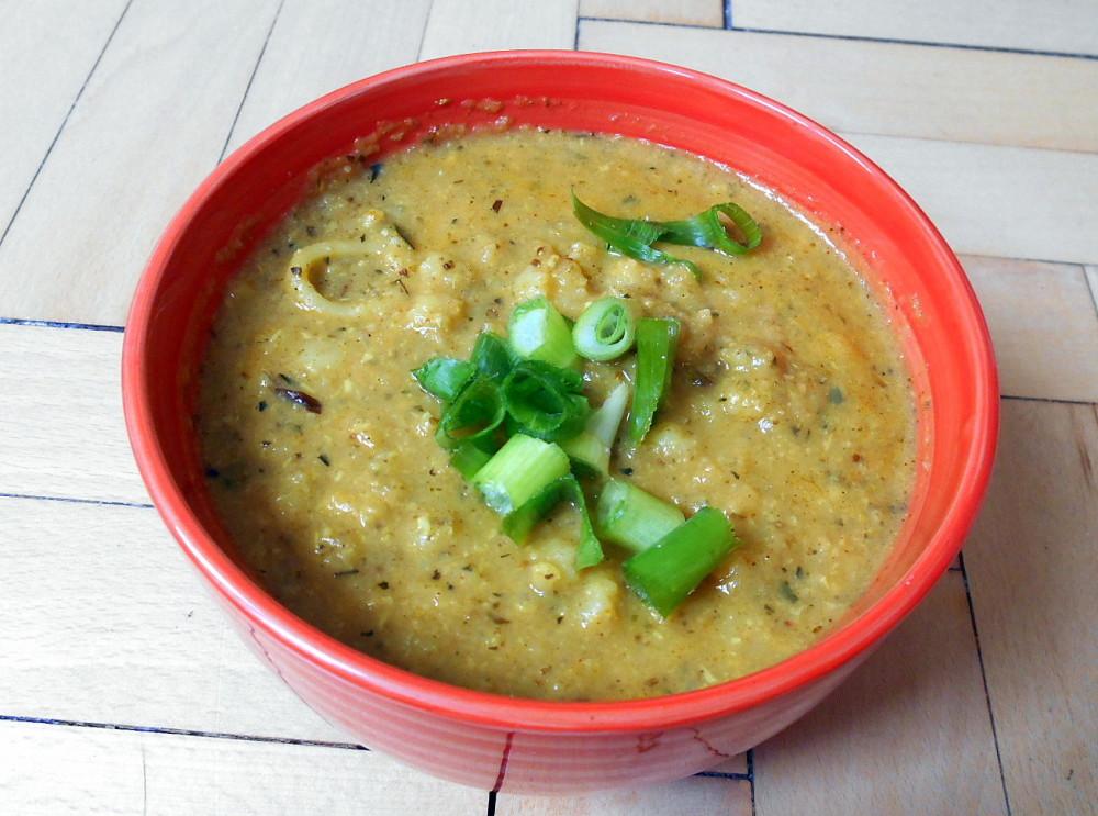 cuketová polévka / veganské recepty