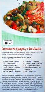 česnekové špagety s houbami / veganské recepty