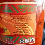 ljutenica složení / veganské jídlo na cesty