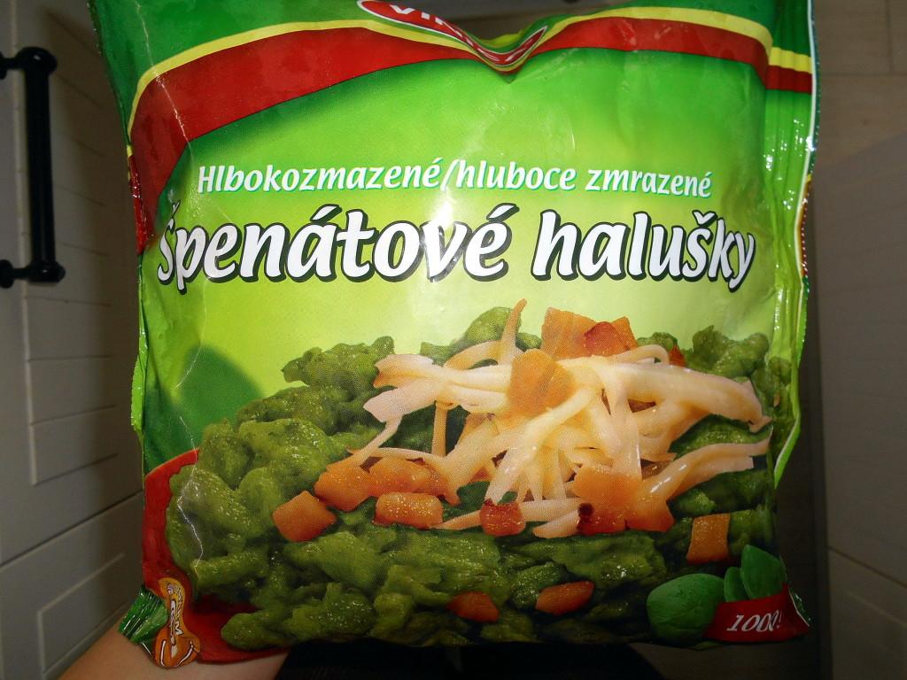 špenátové halušky