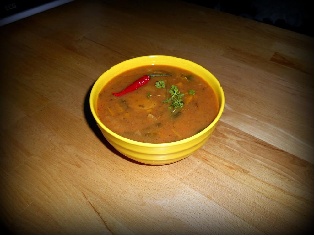 pórková polévka / veganské recepty