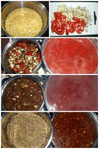 sojové nudle po boloňsku / veganské recepty