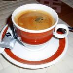 kafíčko v restauraci Bolor