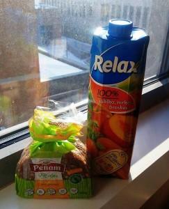 penam slunečnicový relax džus protlak mrkev broskev vegan