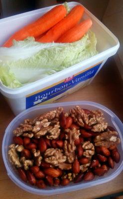 namocene-orechy-mandle-zelenina-vegan-miluna / vegan recepty / strava