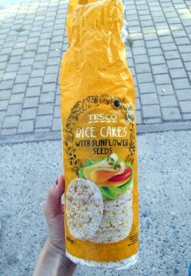Tesco rýžové chlebíčky se slunečnicovými semínky / vegan jídlo / vegan strava