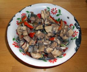 houby, houbový guláš / veganské recepty