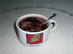 kakaový dezert na lžičce / veganské recepty