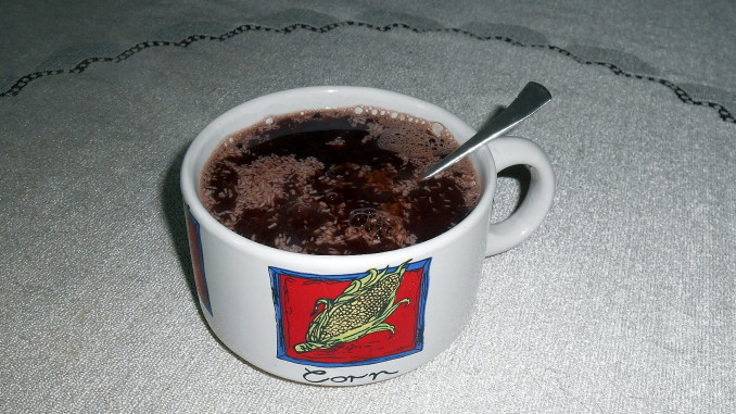 kakaový dezert na lžičce / veganské recepty / miluna
