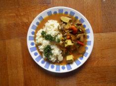 čína s rýží, veganské recepty / miluna