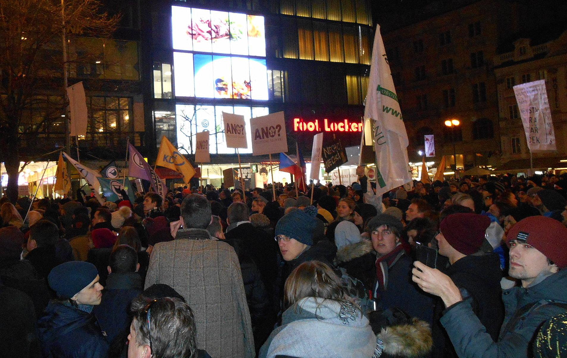 demonstrace na Václavském náměstí 5. března 2018 / miluna