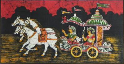 Krišna a Ardžuna na voze, Bhagavadgíta