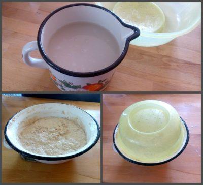 Příprava droždí, tvorba těsta a kynutí / domaci chleba z trouby postup