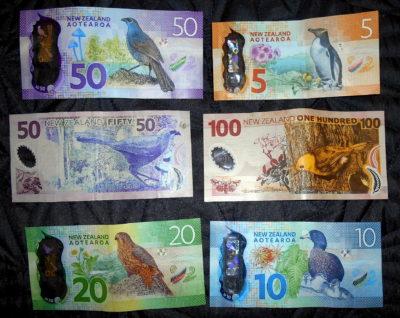 novy zeland bankovky